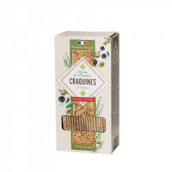Crackers with Provence Herbs and Black Olive