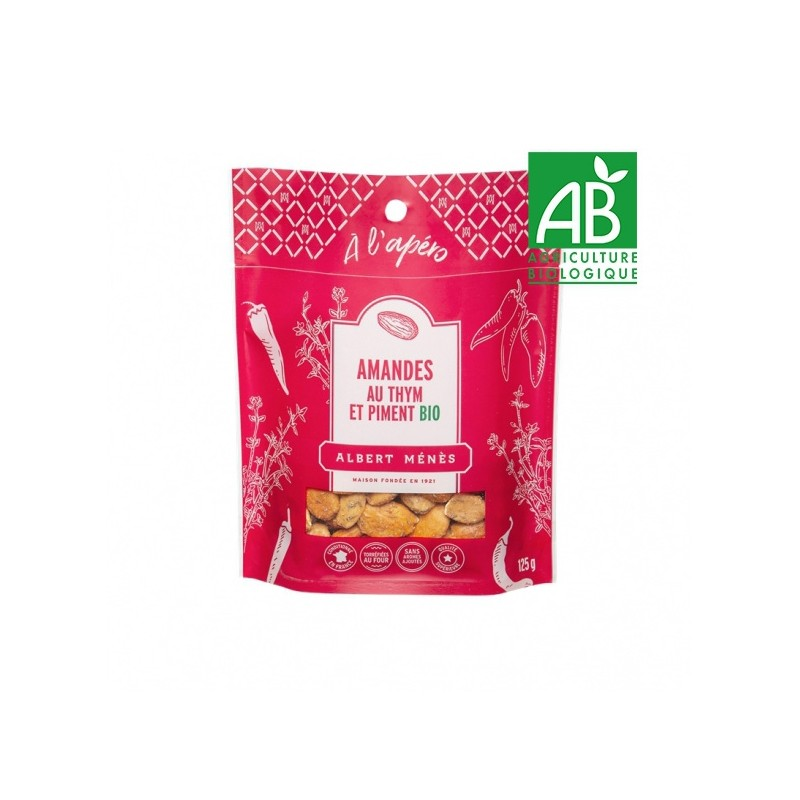 Organic Almonds with Thyme and Chilli Pepper